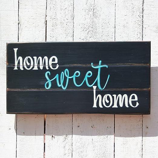 Evan332Eddie Home Sweet Home - Placa de Madera con Texto en ...