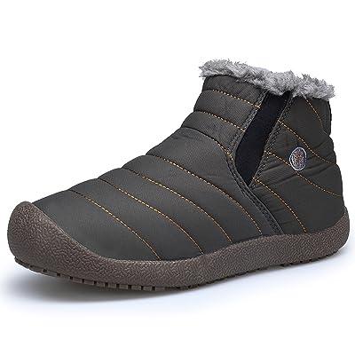 DENGBOSN Femme Chaussures Bottes Boots Bottines De Neige Hiver Fourrées Chaud Impermeable