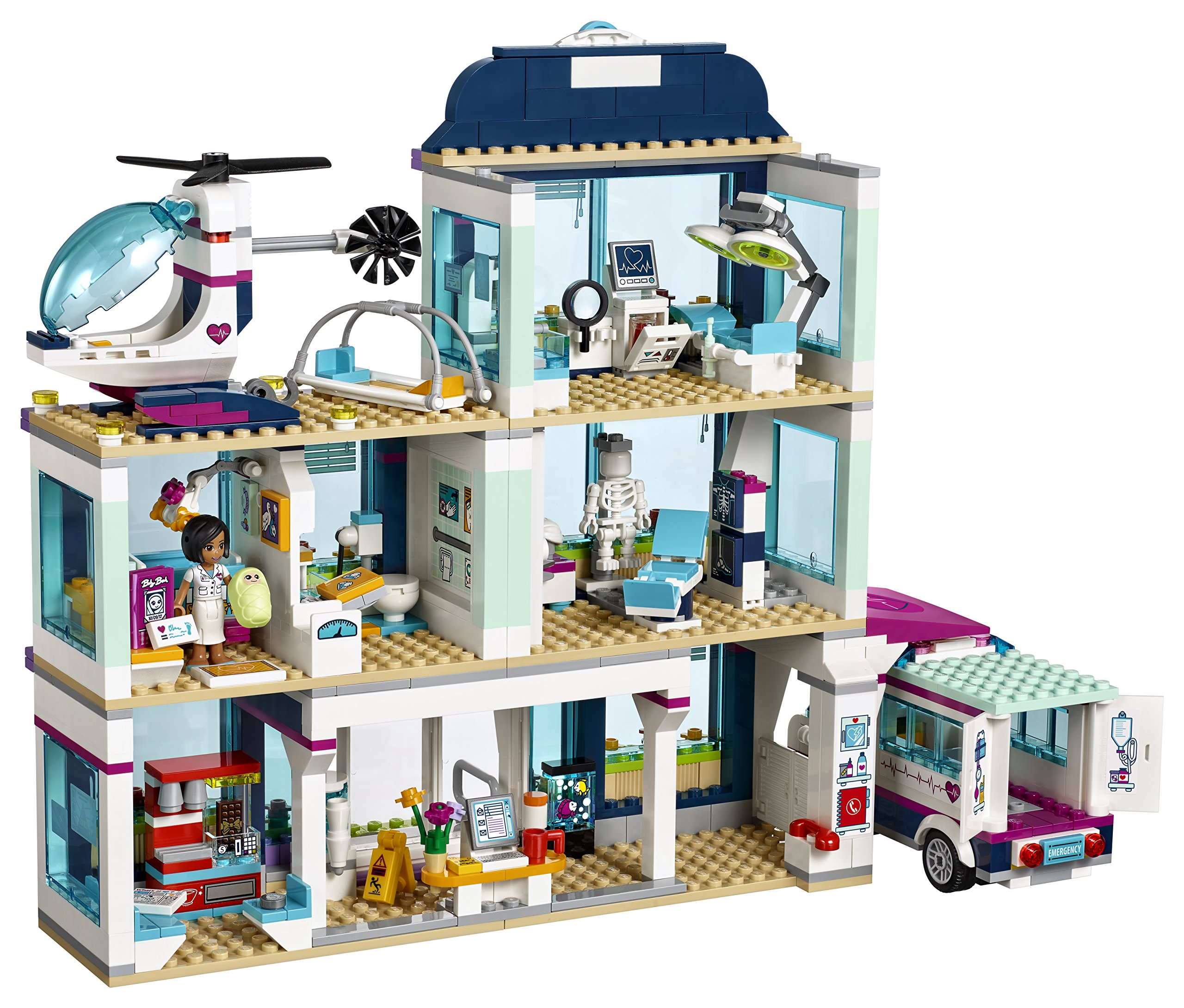LEGO Friends Heartlake Hospital 41318 Building Kit (871 Piece) by LEGO (Image #8)