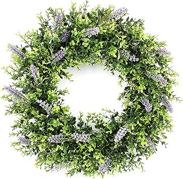 Party Wall Door Hanging Artificial Lavender Wreath Wedding Decor Flower Garlands