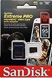 SanDisk サンディスク Extreme Pro microSDXCカード 128GB UHS-I U3 V30対応 633倍速 R:95MB/s 海外リテール SDSQXXG-128G-GN6MA [並行輸入品]