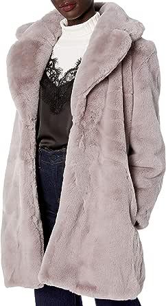 Keepsake the Label Women's Stella Faux Fur Plush Over Coat