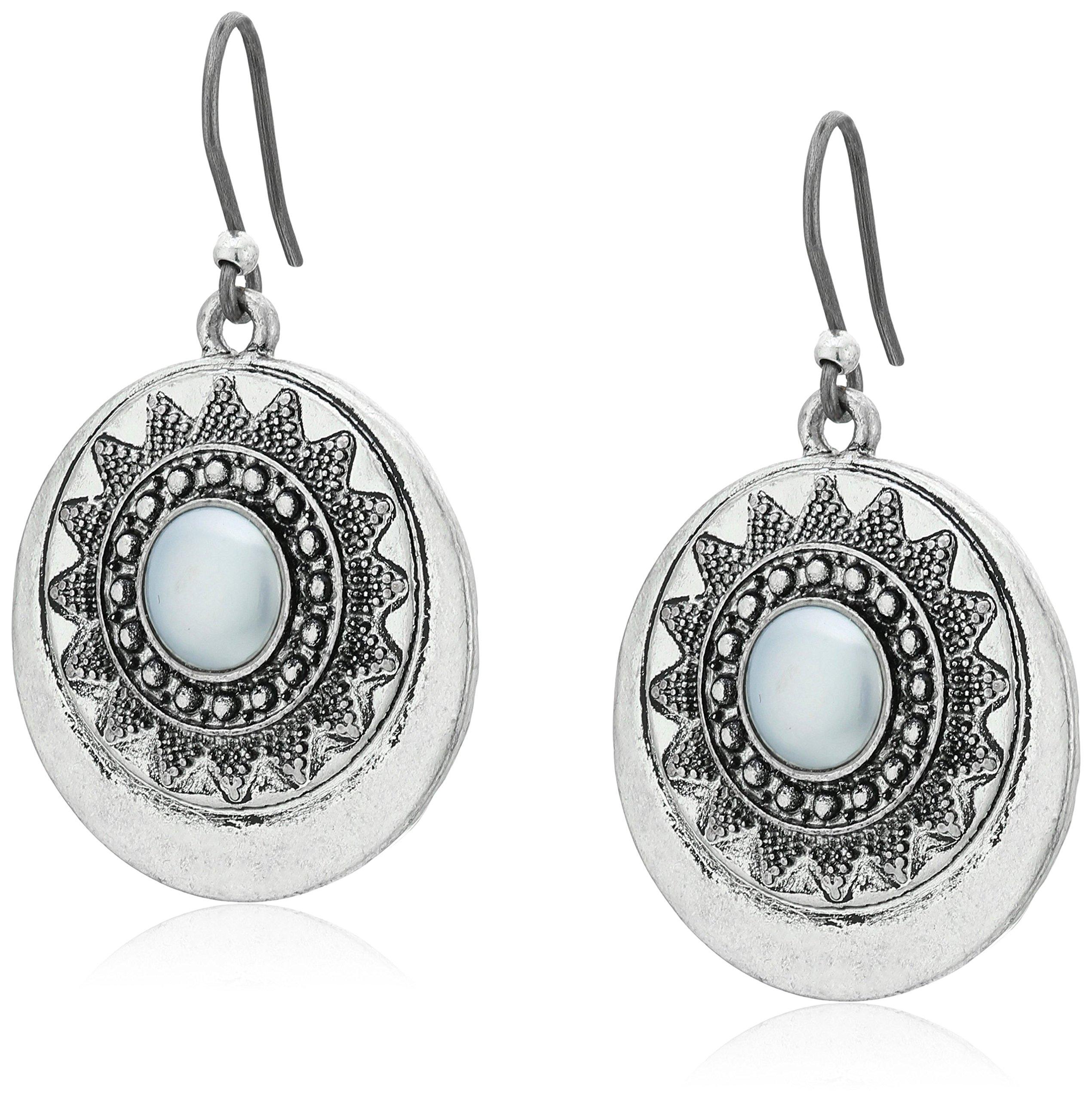 Lucky Brand Pearl Circle Drop Earrings