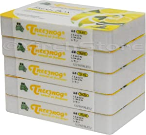 Air Freshener Lemon Scent 5 Pack, Treefrog Fresh Box Lemon, Tree Frog Last Long, Large Size Car Air Freshener
