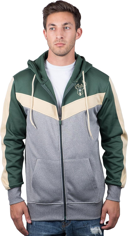 Ultra Game Men's Soft Fleece Full Zip Jacket Hoodie
