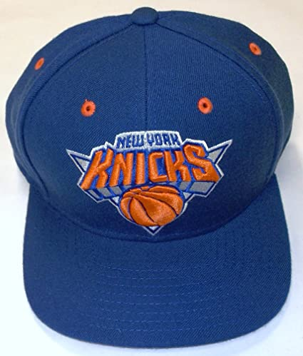 e9fd70f91a7 Image Unavailable. Image not available for. Color  NBA New York Knicks Flat  Bill Snapback Adidas Hat ...