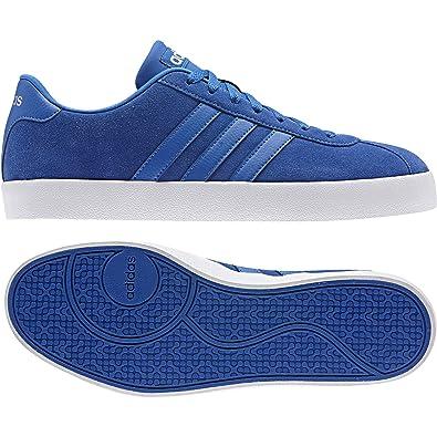 finest selection 4003f 7270e adidas Vlcourt Vulc, Chaussures de Tennis Homme, Bleu Azul Plamat, 43 EU
