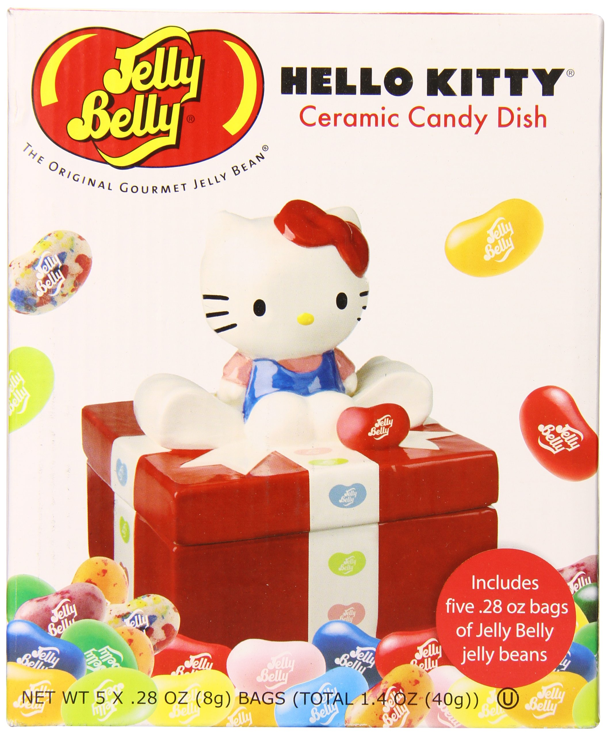 Jelly Belly Ceramic Candy Dish Gift Box, Hello Kitty, 1.4 Ounce by Jelly Belly