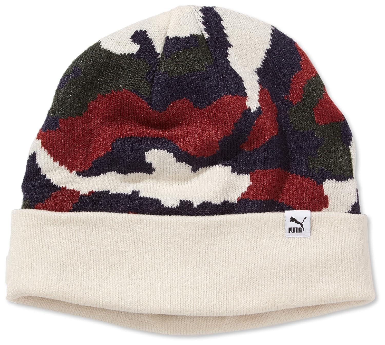 PUMA Mütze Strickmütze Camou Beanie Wintermütze PUMA Herrenmütze Wintermütze Beanie Mit Umschlag