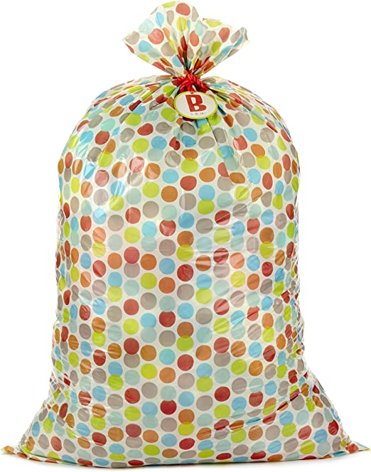 Polka Dot Tissue Paper /& Mailing Bag Mix Pack Polythene Post Gift Wrapping Kit