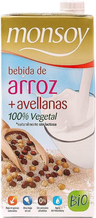 Monsoy 20431 - Bebida Ecológica de Arroz con Avellanas - Caja de 4 x 1L: Amazon.es: Alimentación y bebidas