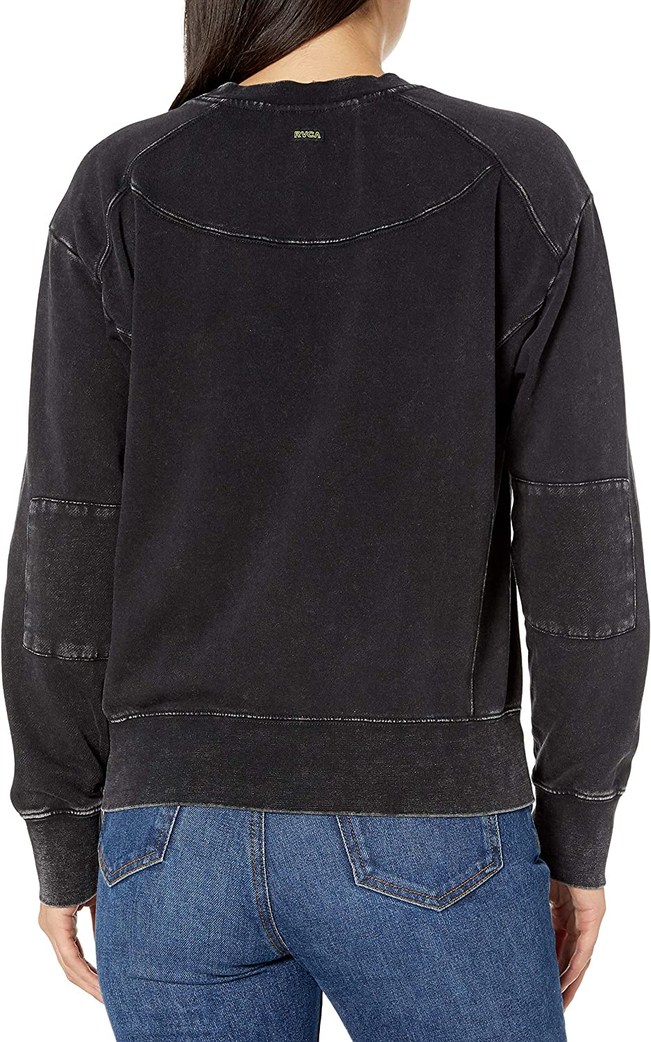 RVCA Womens Mended Pullover Crew Neck Sweatshirt