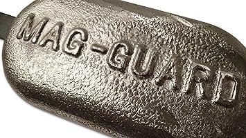 Anodo de magnesio - Barco de río agua dulce Soldar 300x150x35mm 2.5kg grande