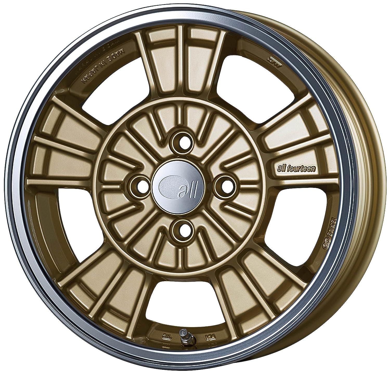 エンケイ アルミホイール all fourteen 16 x 6.5J +45 4H 100 Machining Gold AL14-665-45-4C-G B06W54T5QW