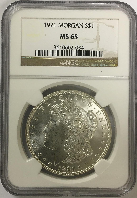 1921 Morgan Silver Dollar $1 MS-65 NGC