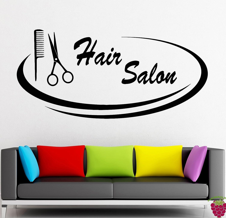 100 wall decals beauty salon hair wall stickers vinyl - Stickers deco salon ...