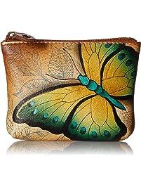 Anuschka Women's Leather Coin Purse | Genuine Soft Leather, Hand-painted Original Art