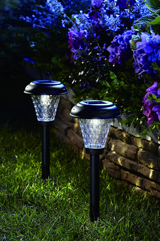 Moonrays 91381 Payton Solar LED Plastic Path Light