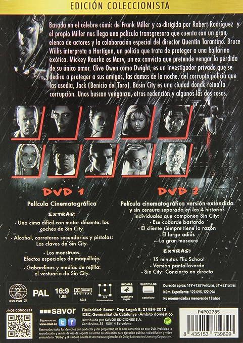 Sin City [DVD]: Amazon.es: Jessica Alba, Devon Aoki, Frank Miller, Jessica Alba, Devon Aoki, No disponible: Cine y Series TV