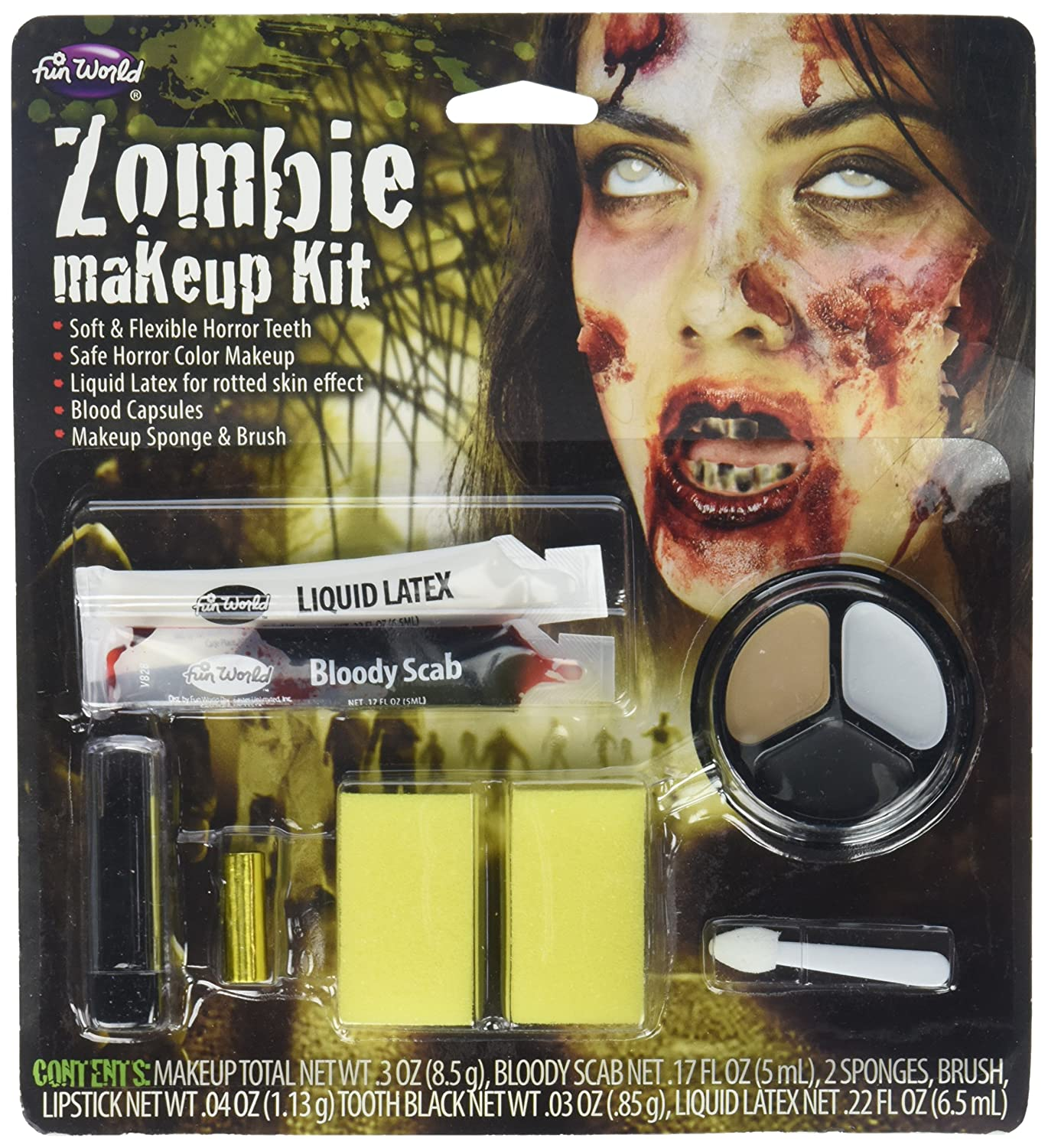 Womens Zombie Makeup Kit - ST Fun World Inc. FW-9421-ZG
