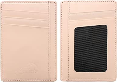 Lethnic Slim Wallet RFID Front Pocket Minimalist Wallet With ID Window New ..