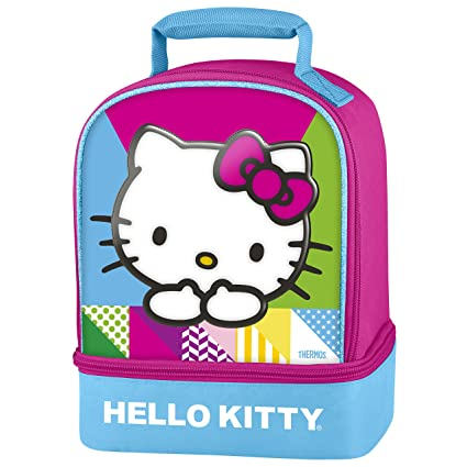 e0111242ff Amazon.com: Thermos Dual Compartment Lunch Kit, Hello Kitty: Lunch Boxes:  Kitchen & Dining