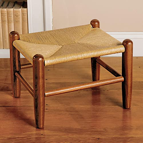 Monticello Handmade Woven Rush Footstool