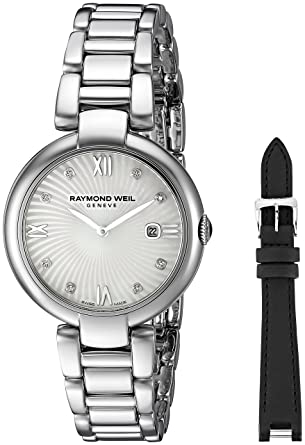 Raymond Weil Womens Shine Swiss Quartz Stainless Steel Watch, Color:Silver-
