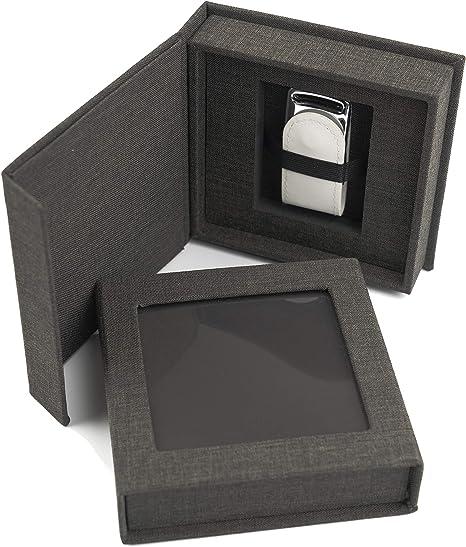 Codiarts. Memoria USB 3.0 de 16 GB en Elegante Caja USB con Ventana de Imagen. para Bodas, fotógrafos, Recuerdos de Vacaciones, Regalo (Antracita).: Amazon.es: Informática