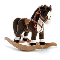 Trudi 29708, Giochi in legno, Cavallo a dondolo, colore: Marrone