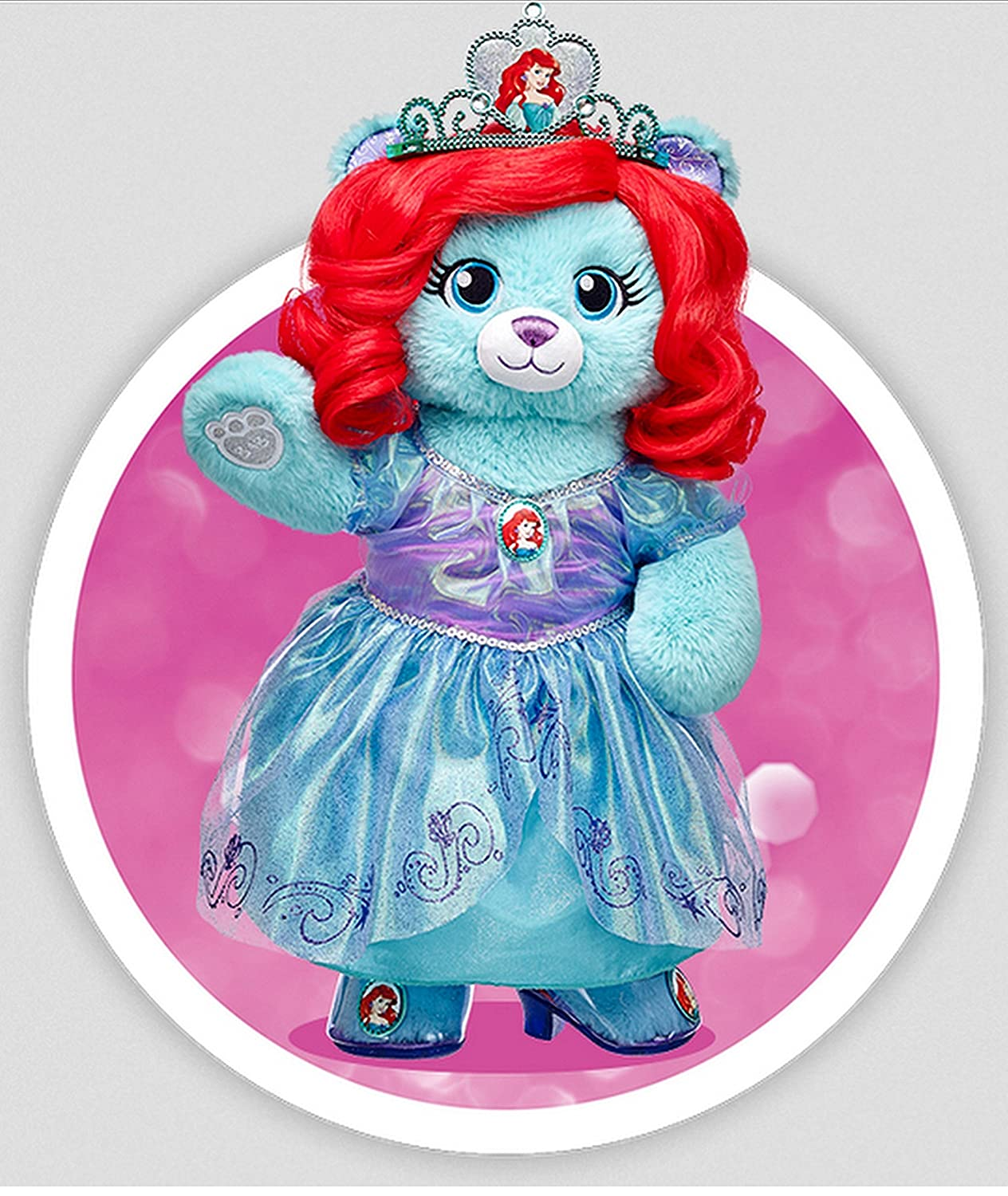 05586f6460a Amazon.com  Build a Bear Disney Princess Ariel Inspired Teddy Limited  Edition COA 16in. Stuffed Plush Toy Animal  Toys   Games