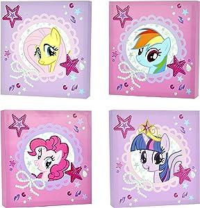 Hasbro My Little Pony Canvas Wall Art (4-Piece)