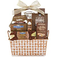 Gourmet Chocolate Assortment Gift Basket with ONLY Brand Names. Includes: Brown & Haley, Carousel, Ghirardelli Squares and Hot Cocoa, Hammonds Popcorn, Sheila & Snappers.