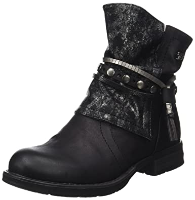 Tom Tailor 3795612, Bottes Motardes Femme, Noir (Black), 36 EU