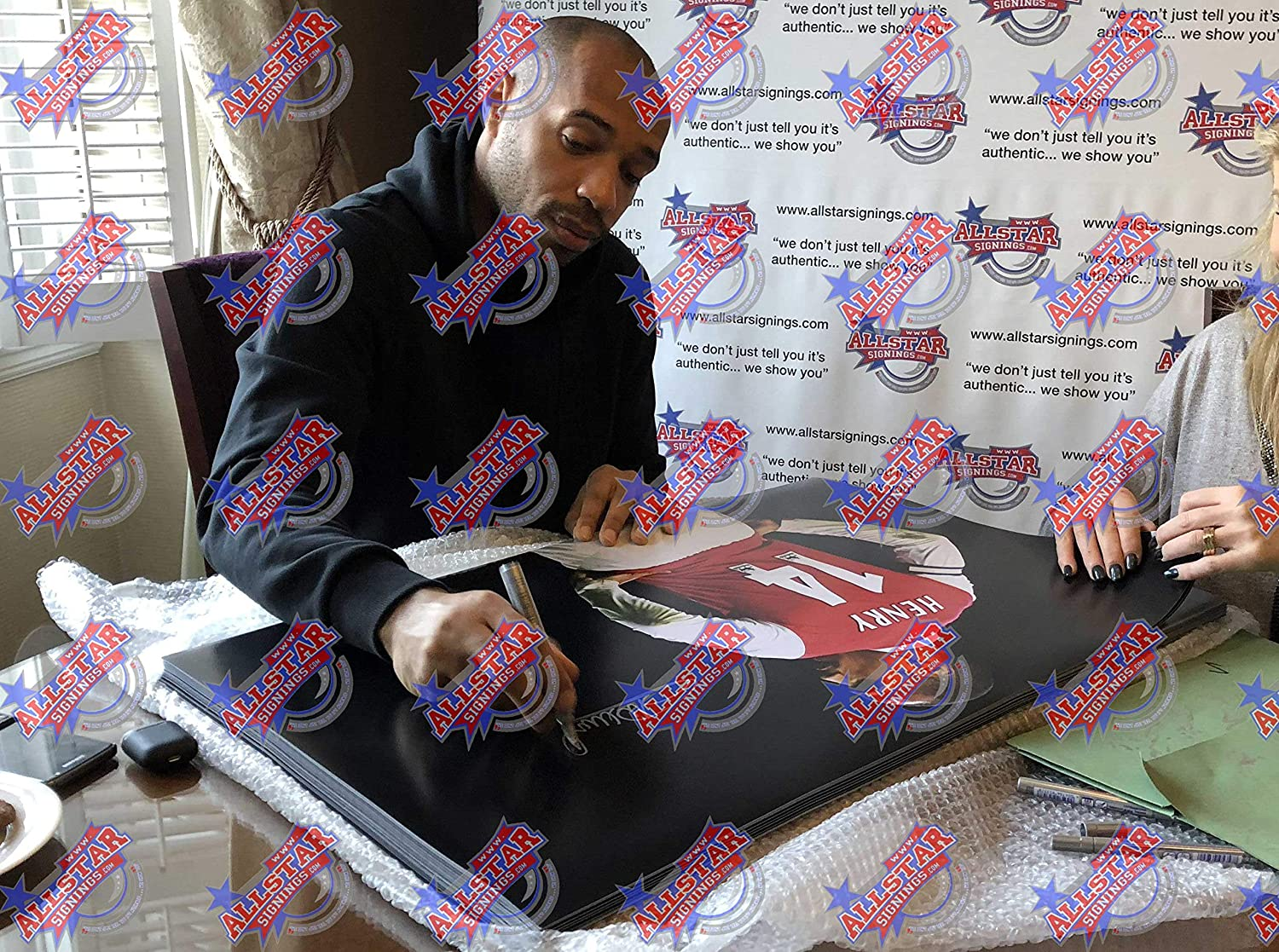 Thierry Henry signed Arsenal 30x20 inch photo with COA and proof