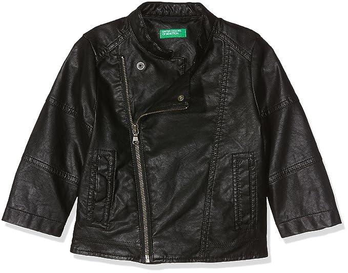 United Colors of Benetton Jacket, Chaqueta para Niños, Negro (Black 100),