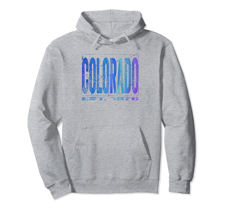 Colorado Hoodie  Women, Kids, Men Distressed Blue, Purple-Colonhue
