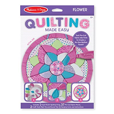 Melissa & Doug Quilting Made Easy - Flower Toy (Great Gift for Girls and Boys - Best for 6, 7, 8, 9, 10 Year Olds and Up): Toys & Games