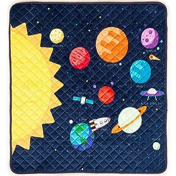 Baby Play Mat de la Vía Lactea - Alfombra Interactiva y Educativa del Espacio con Planetas
