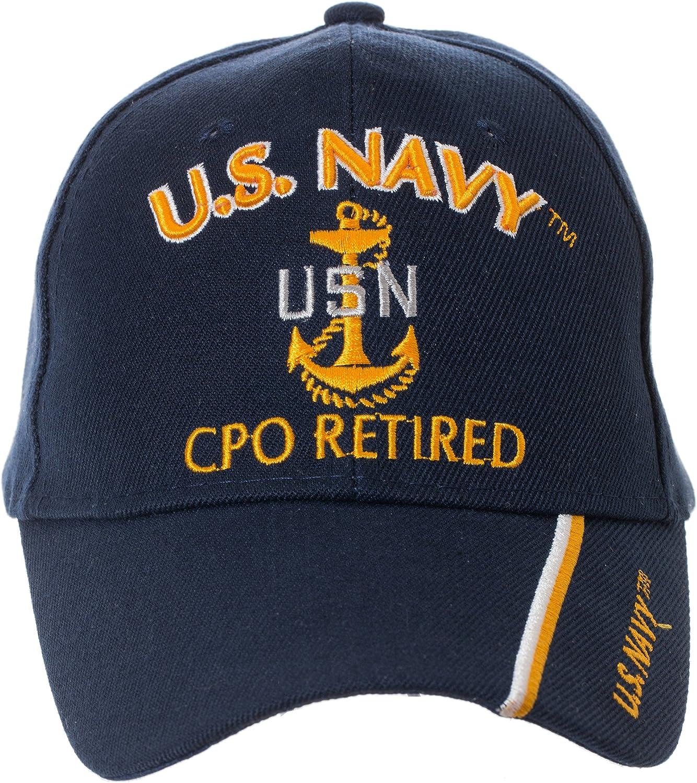Artisan Owl Officially Licensed US Navy Retired Baseball Cap - Multiple Ranks!