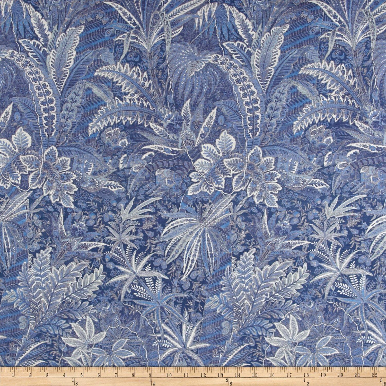 Liberty Fabrics Interiors Shand Voyage Linen/Silk Blue Ribbon by Liberty Fabrics