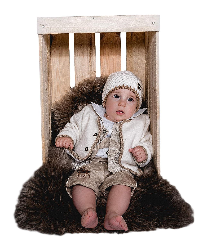 Taufanzug Tracht Baby Taufe Buben Kinder Grün Weiß Braun