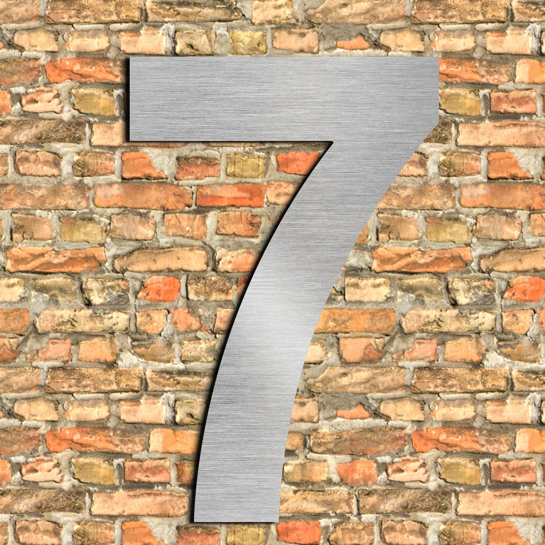 Gran n/úmero de casa cepillado 2 Dos 25.4cm 10in-made de s/ólido aspecto flotante de acero inoxidable 304 f/ácil de instalar