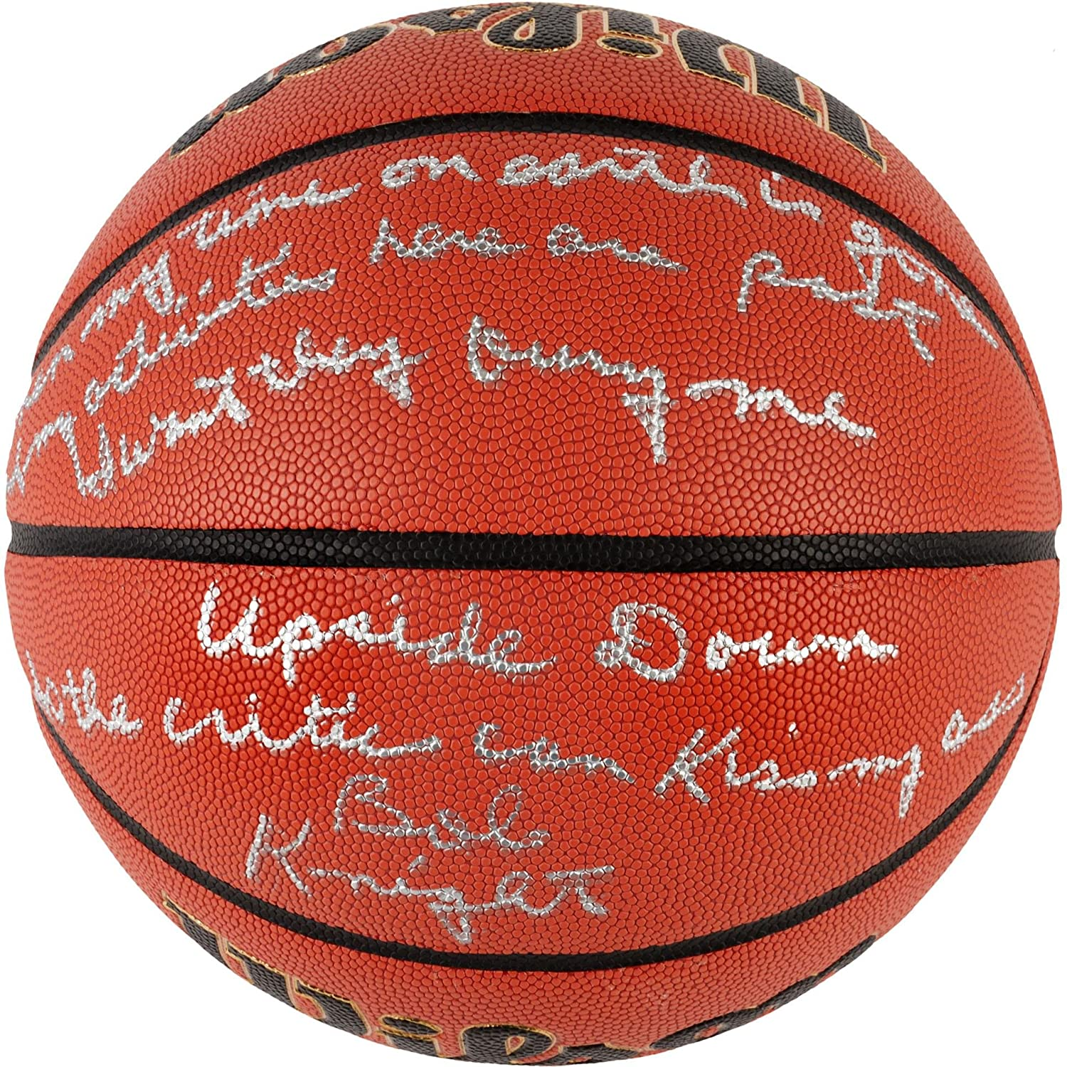 Bobby Knight Indiana Hoosiers Autographed NCAA Game Basketball with Famous Quote Inscription - #2, 4-99 of a Limited Edition of 100 - Fanatics Authentic Certified