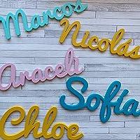 Nombres Decorativos Personalizados de madera para Decoración del Hogar, Comunión, Boda, Cumpleaños y Habitación de Bebe…