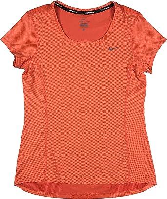 Amazon.com: Nike Women's DRI-FIT Contour Running Shirt ...