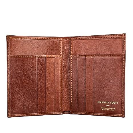 Maxwell Scott® Personalizada Lujo Italiano tarjeta de crédito cartera de piel para hombre (Salerno