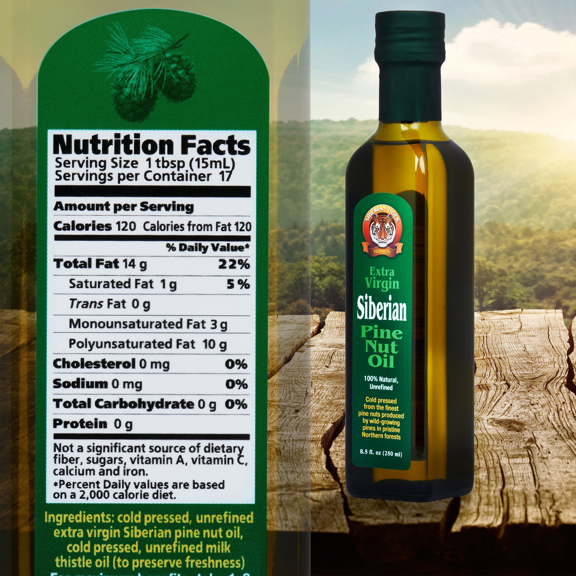 Extra Virgin Siberian Pine Nut Oil, 8.5 oz. Bottle - Premium Quality, Unrefined, 100% Natural - Benefits Overall Health & Aids Gastritis, Ulcers, Digestive Issues by Siberian Tiger Naturals (Image #9)
