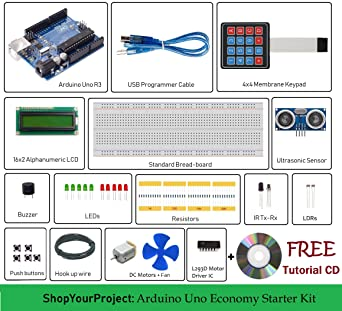 ShopYourProject Arduino Uno R3 project kit for beginners 16