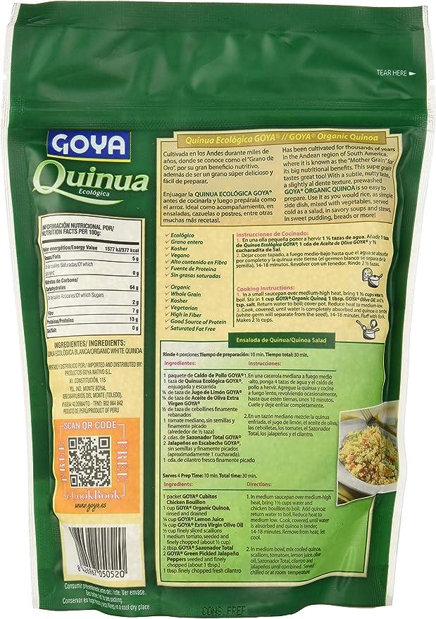Goya Quinoa Blanca Ecológica - 6 Paquetes de 340 gr - Total ...